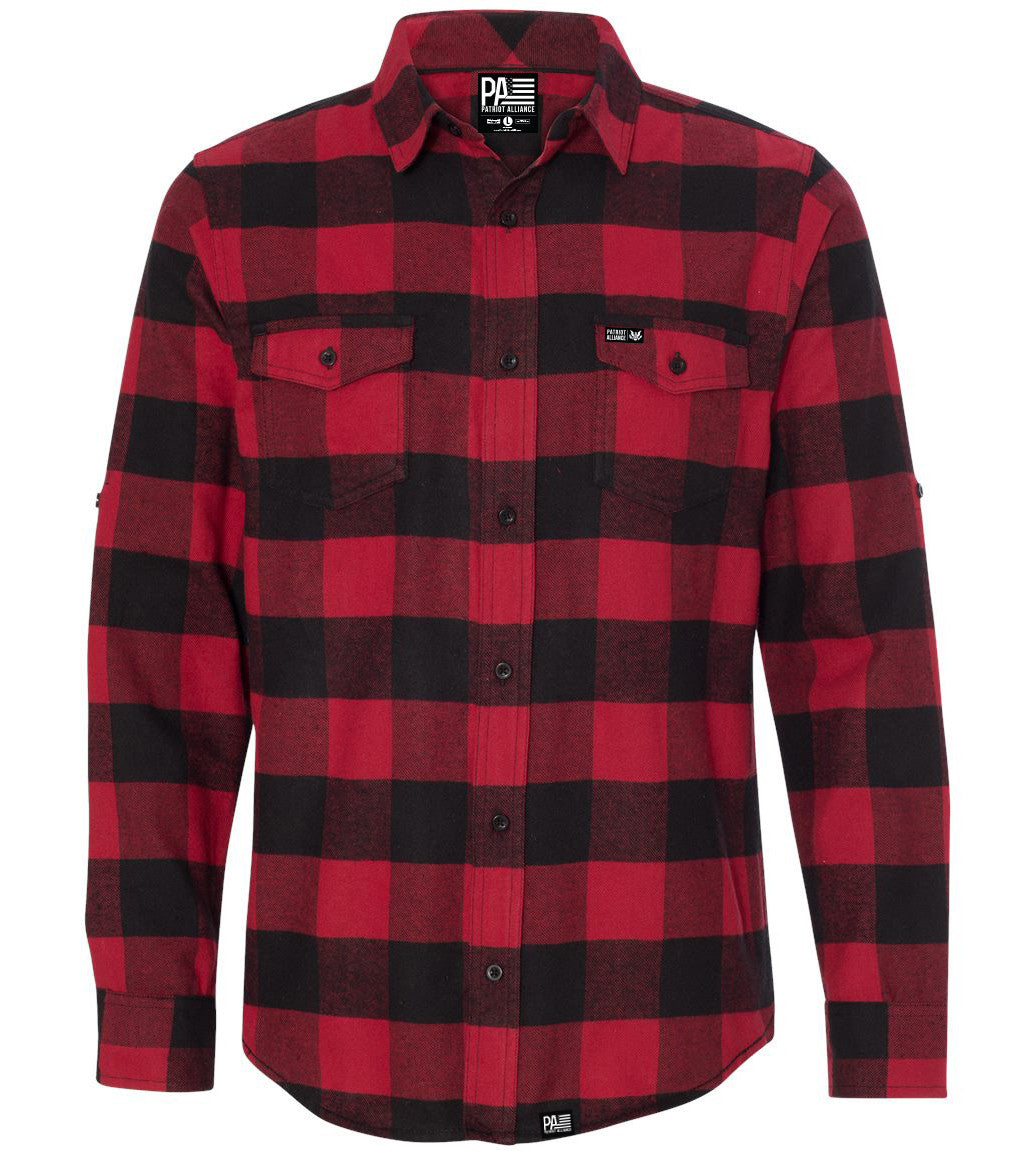 Great Seal Flannel, Red/Black