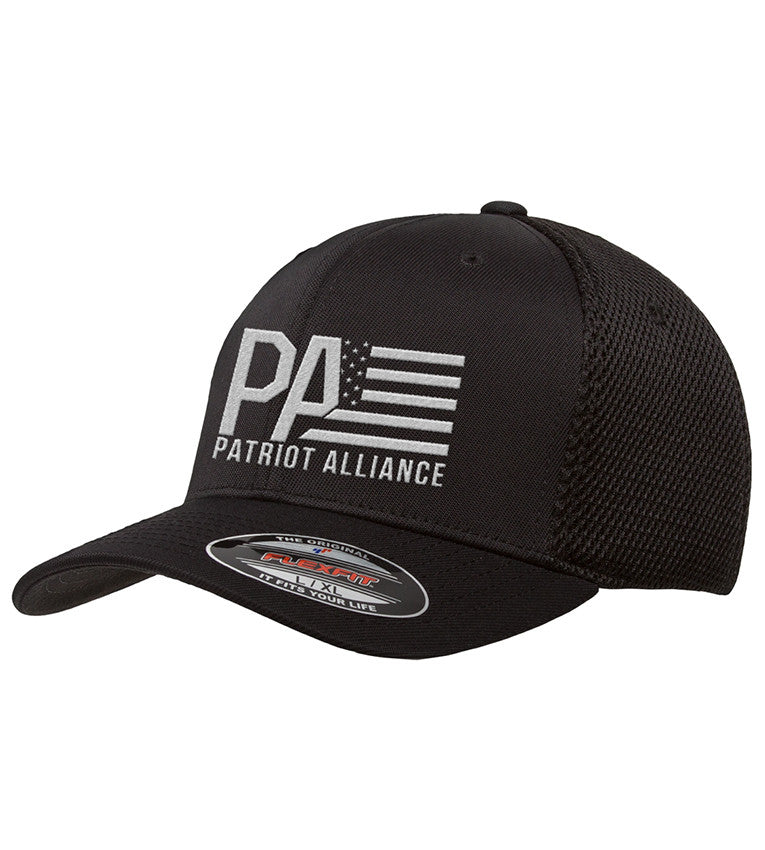 PA Fitted Airmesh Hat, Black