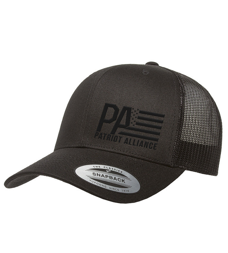 PA Curved Bill Snapback, Black/Black