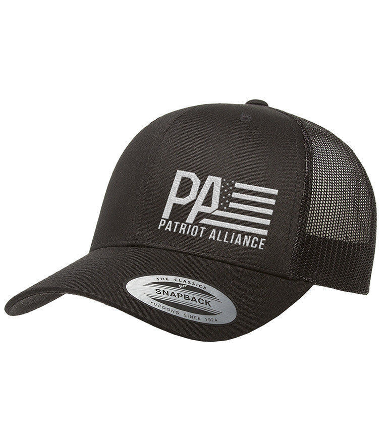 PA Curved Bill Snapback, Black/WH