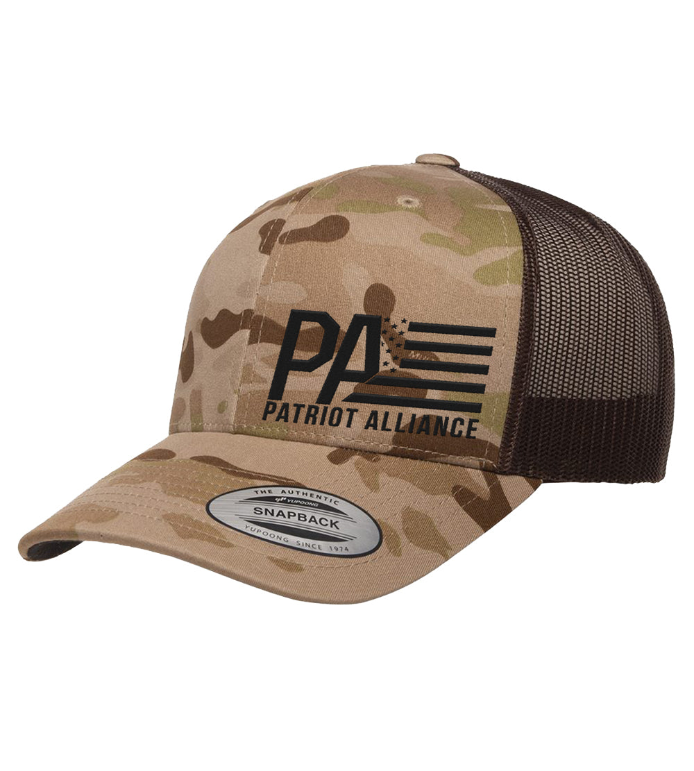 PA Curved Bill Snapback, Multicam Arid/Brown
