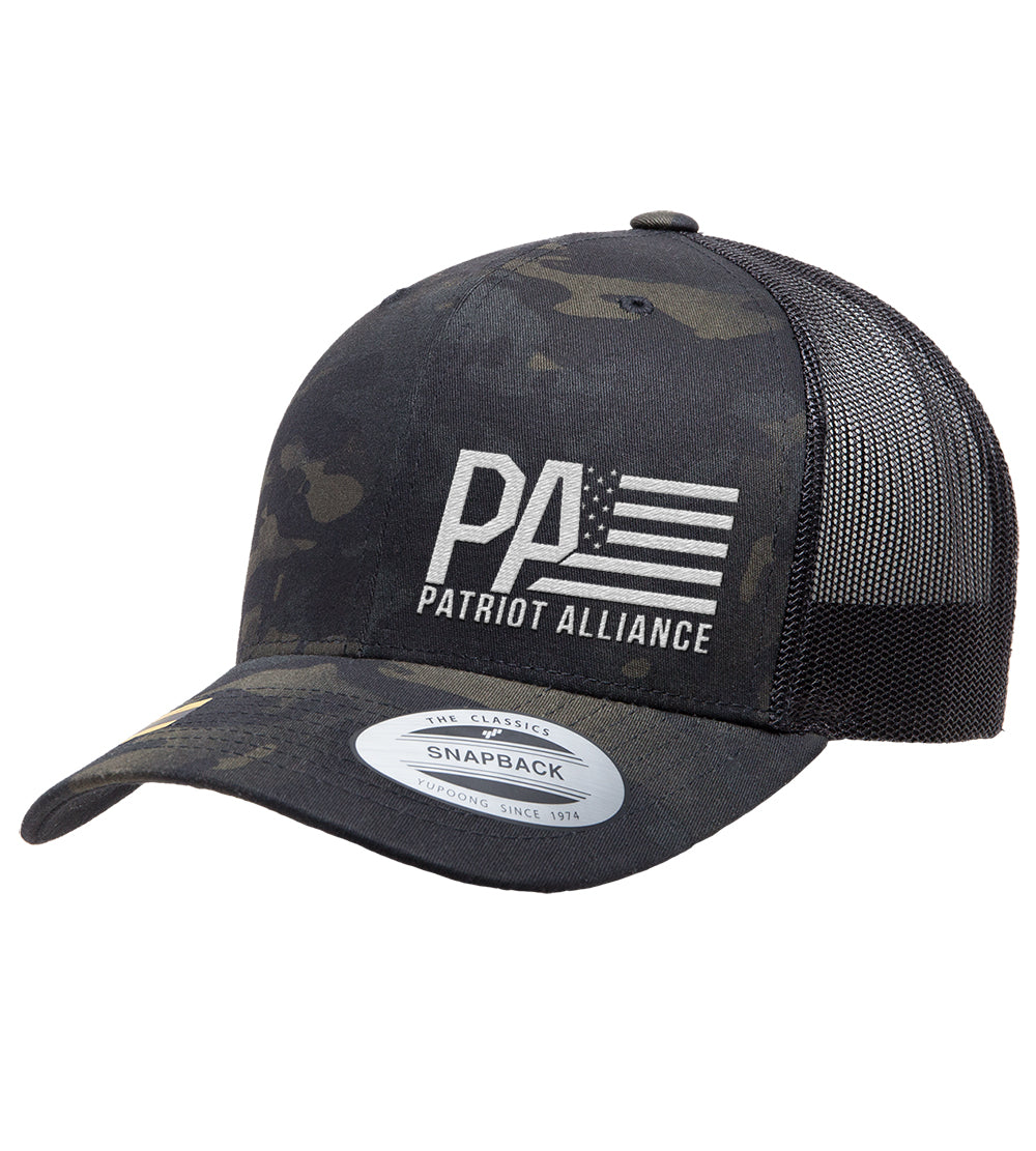 PA Curved Bill Snapback, Multicam Black/Black