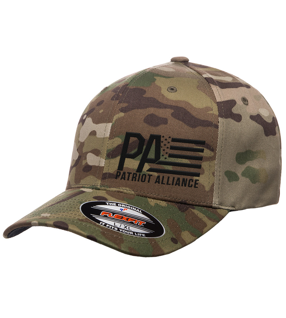 PA Fitted Flexfit Hat, Multicam Green