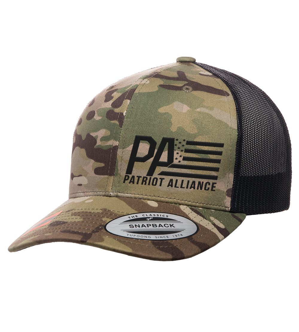 PA Curved Bill Snapback, Multicam Green/Black