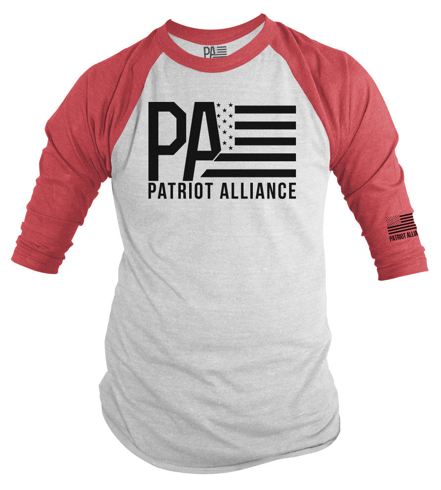 PA Logo Raglan Tee, Red/White