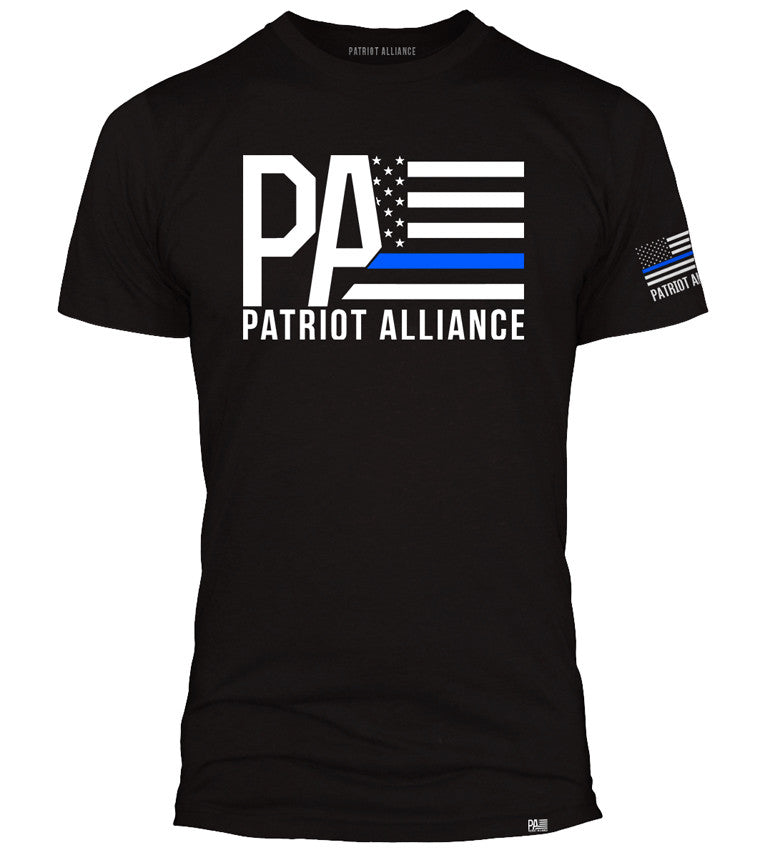 PA Logo Thin Blue Line, Black