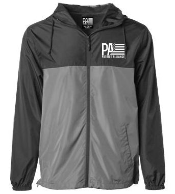 PA Logo Windbreaker, Black/Graphite