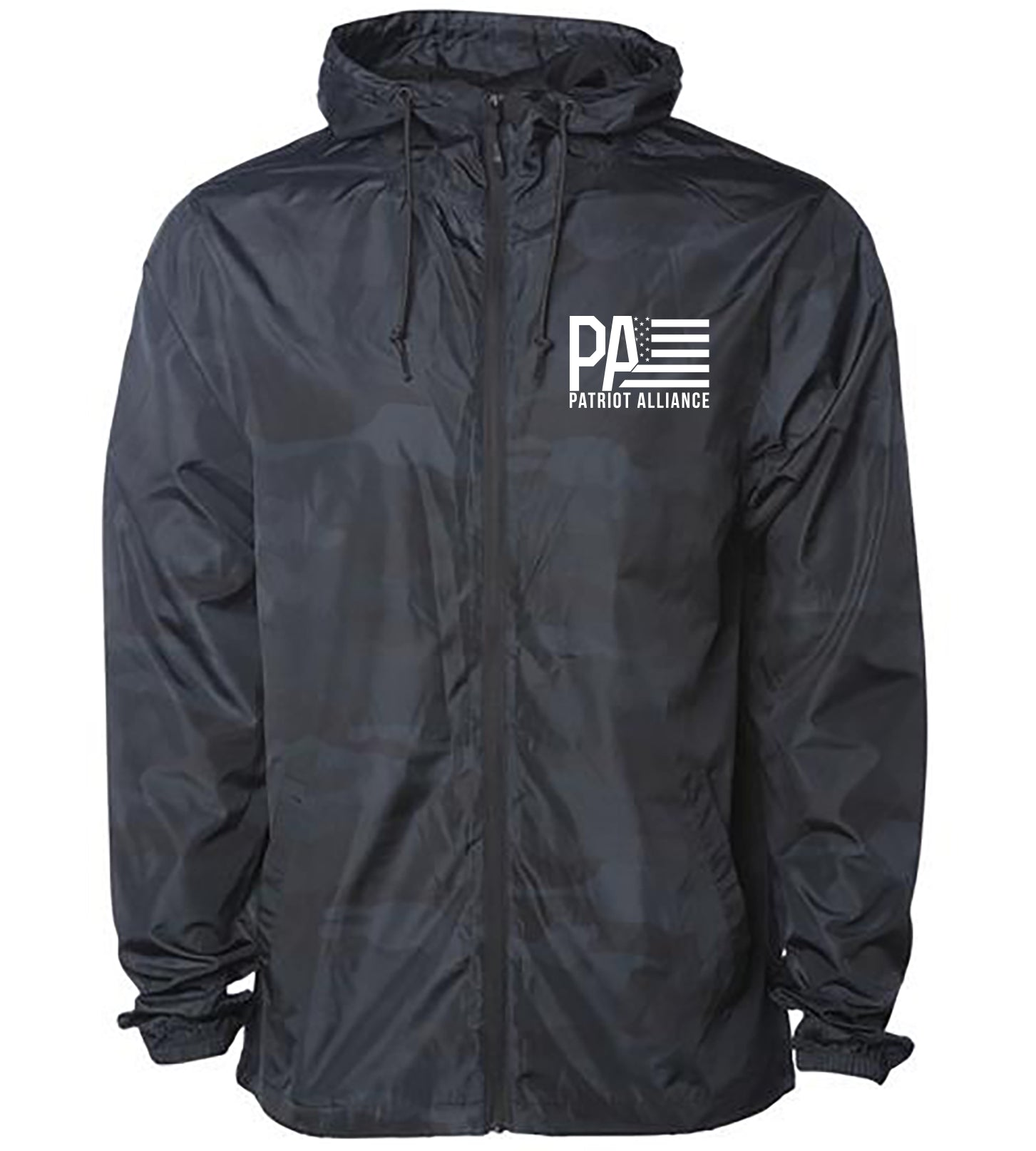 PA Logo Windbreaker, Black Camo