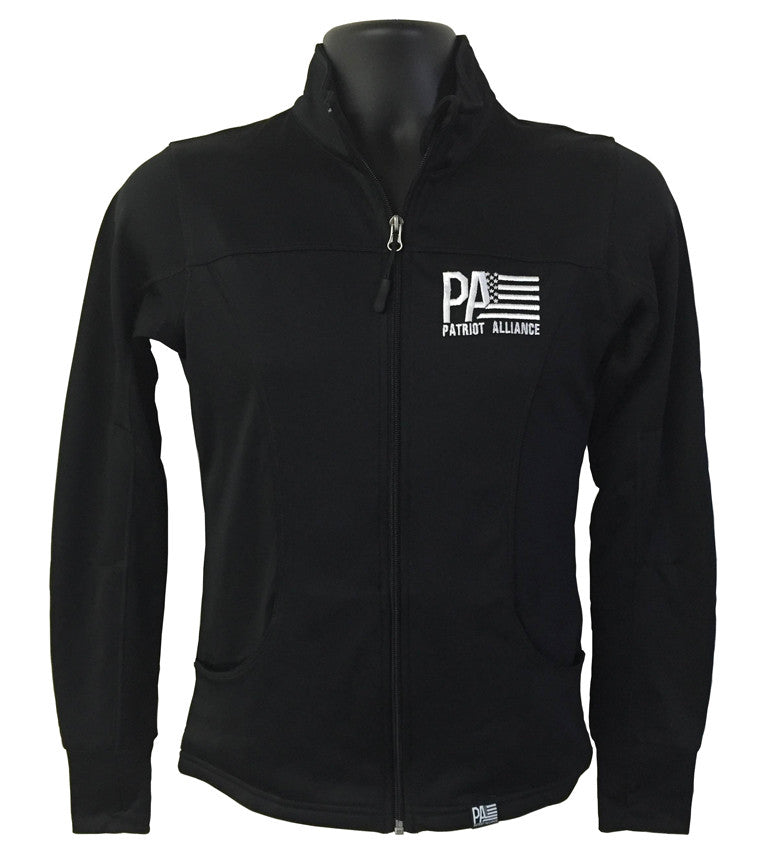 PA Women's Poly-Tech Zip Up, Black