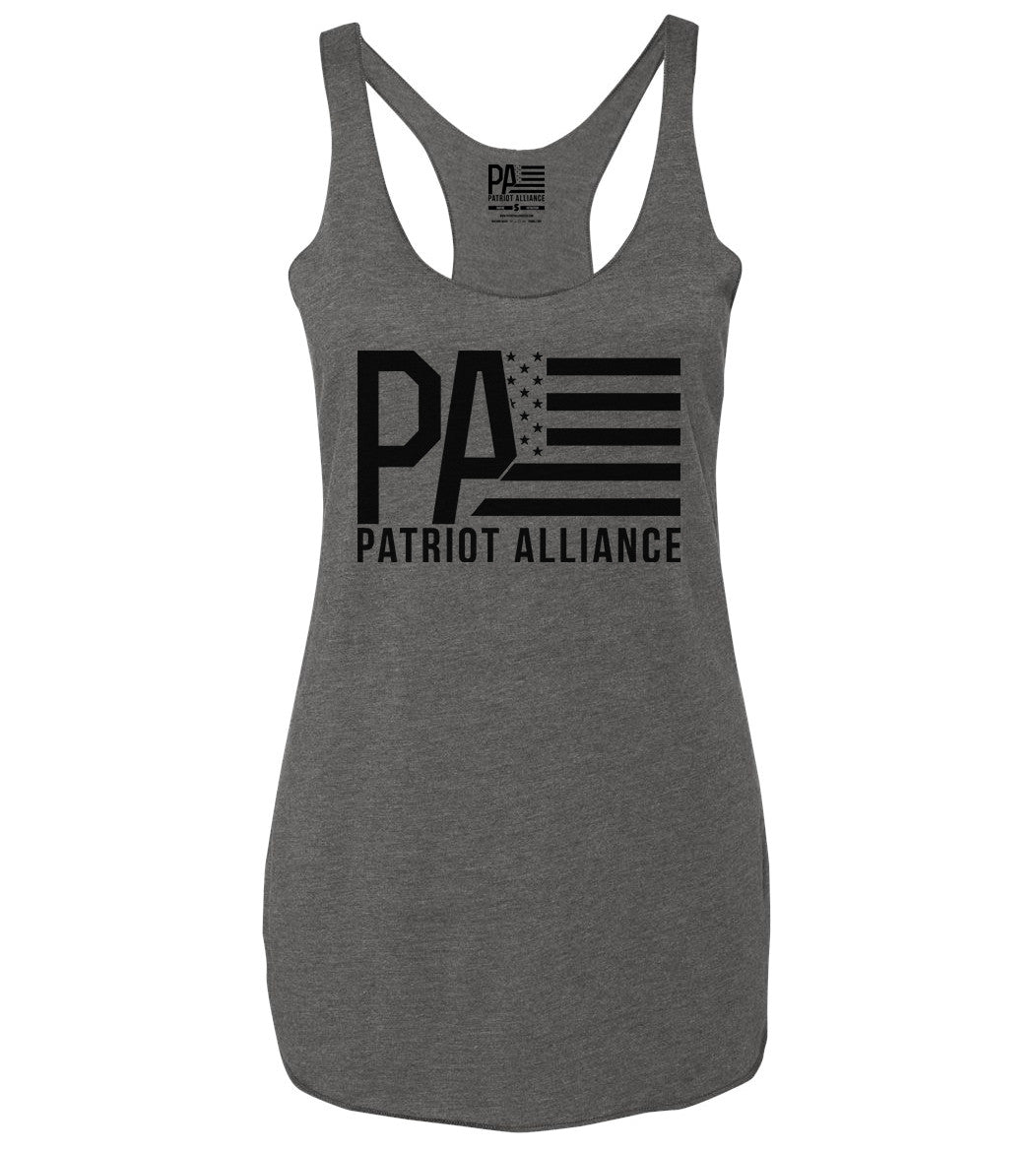 PA Logo Racerback Tank, Heather Grey
