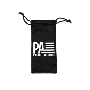 PA Logo Sunglasses, Matte Black