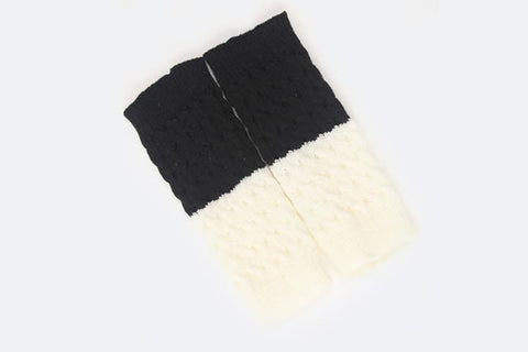 reversible knit boot cuffs - black OS, socks - ELEVALE, ELEVALE
