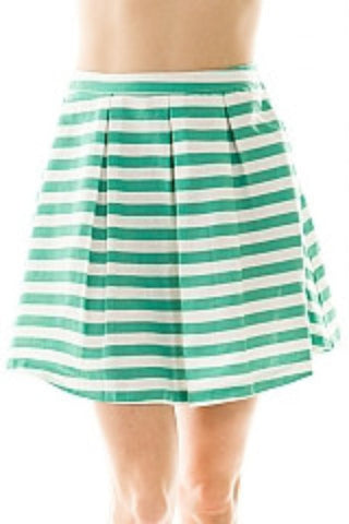 a-line striped skirt - jade | ELEVALE