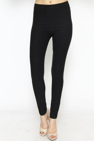 solid basic leggings - black | ELEVALE