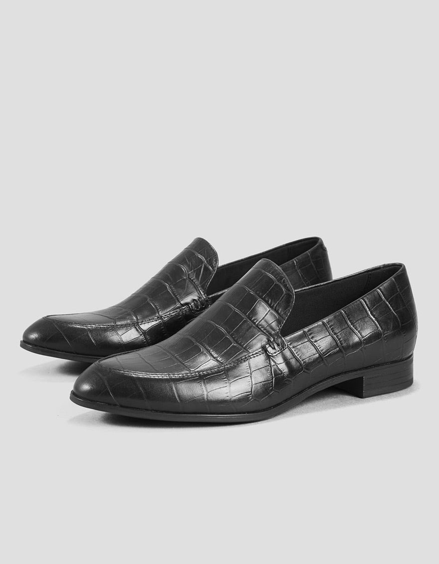 Vagabond Frances Croc Loafer Black