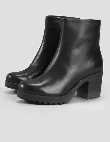 Vagabond Grace Back-Zip Boot Black