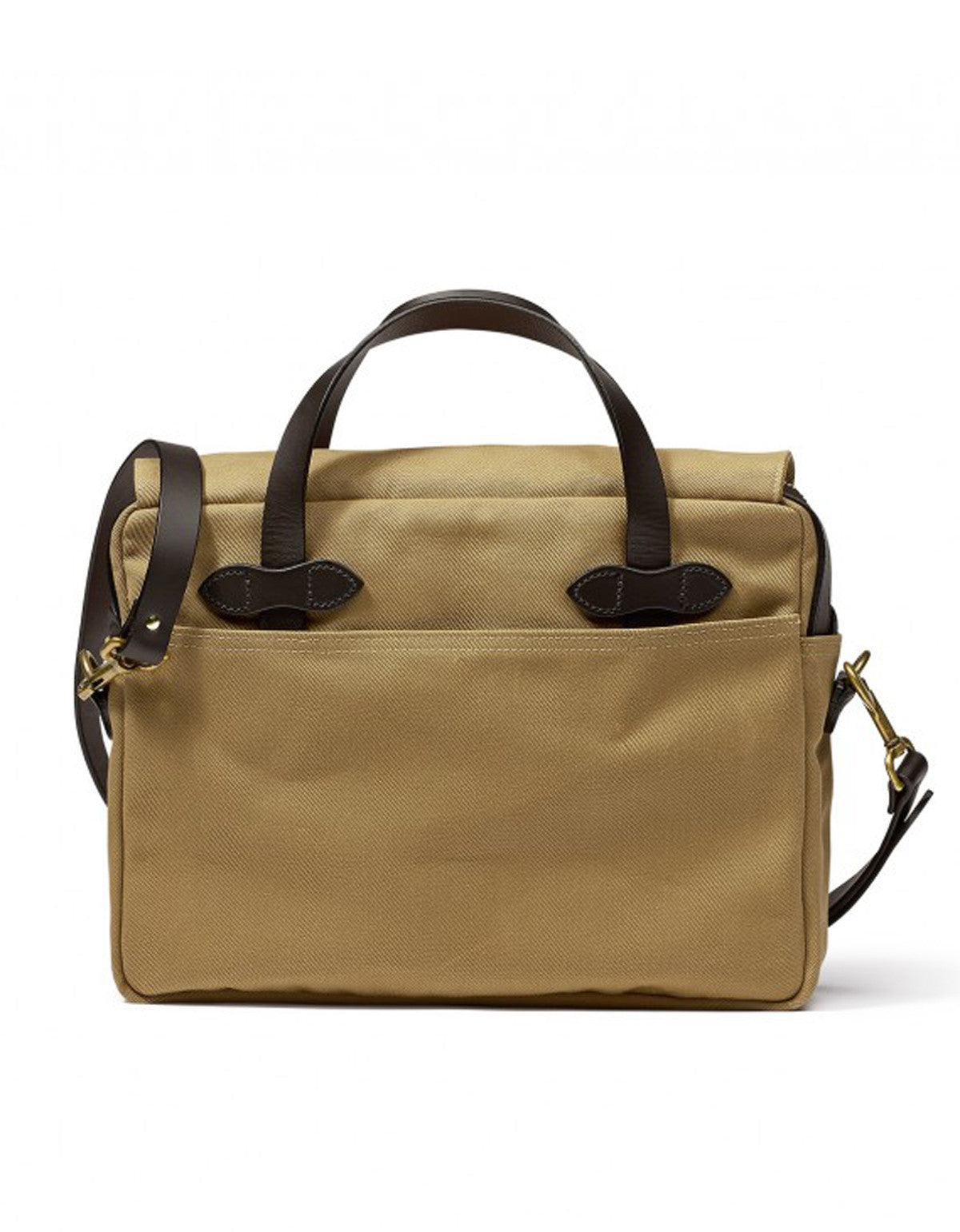 Filson Original Twill Briefcase Tan - Still Life - 2