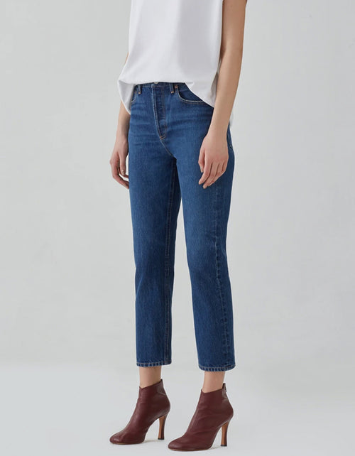 Agolde, Riley Crop High Rise Straight Jean, Wink