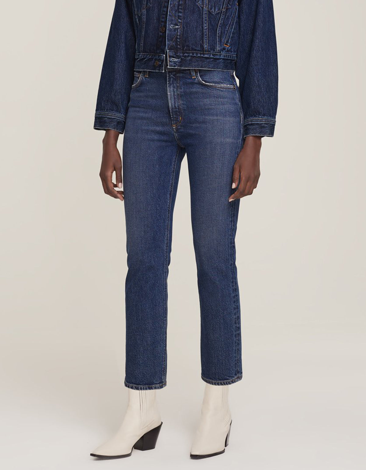 Agolde Wilder Hi Rise Comfort Straight Jean in Hype