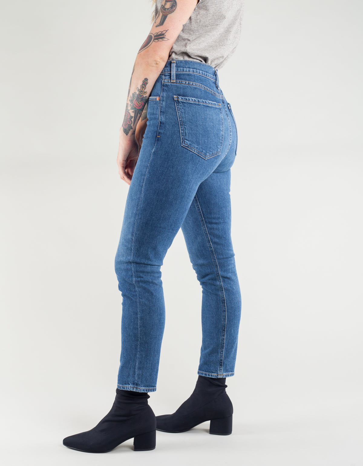 AGOLDE Nico High Rise Slim Jean Subdued