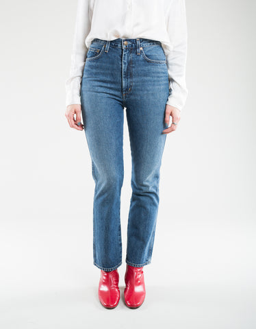 AGOLDE Pinch Waist High Rise Kick Jean Placebo