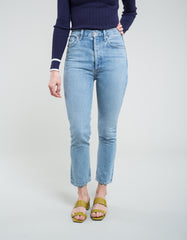 AGOLDE Riley Crop Hi Rise Straight Jean Renewal