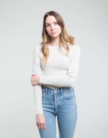 Assembly Label Rib Long Sleeve Knit Birch