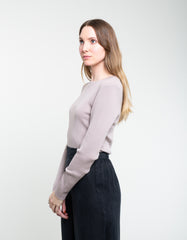 Assembly Label Rib Long Sleeve Knit Fawn