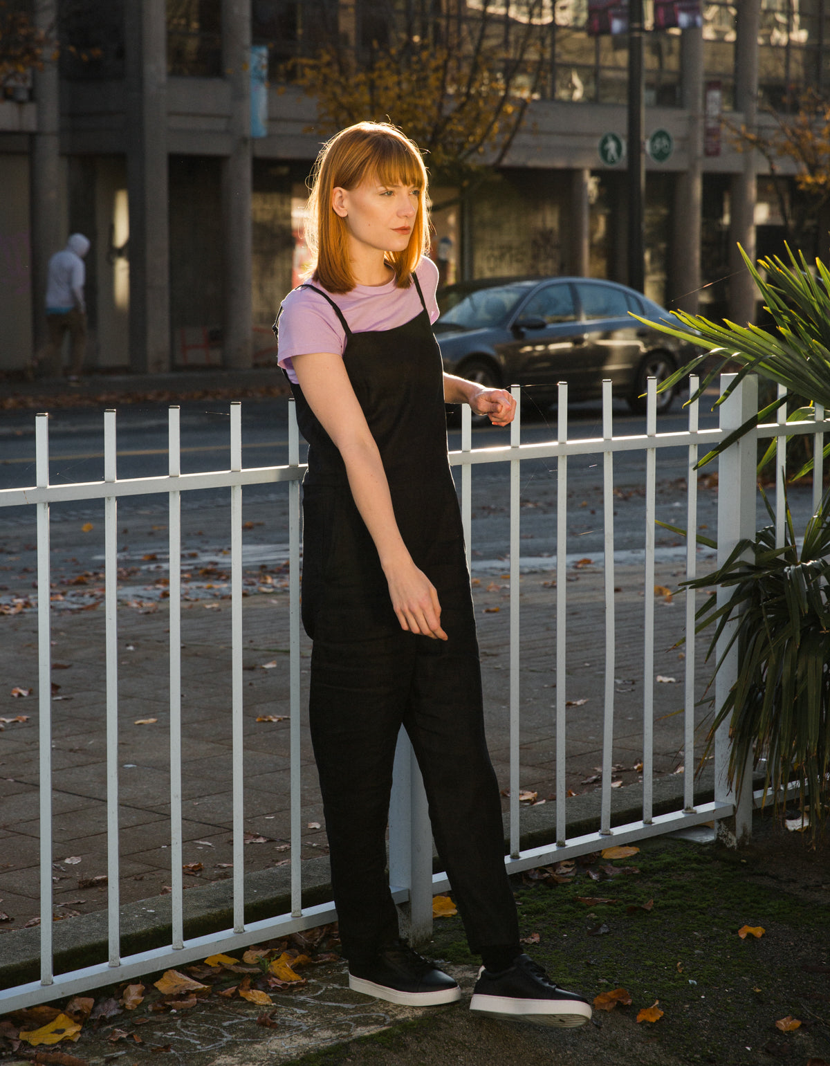 Assembly Label Pinafore Jumpsuit Black