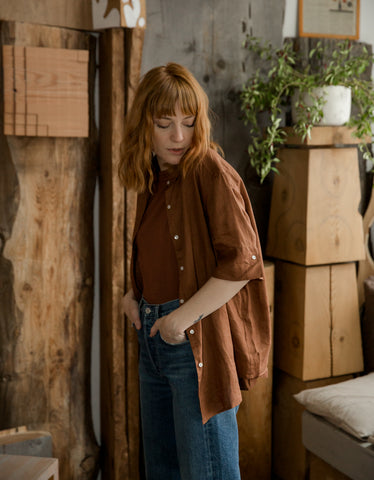 Assembly Label Short Sleeve Shirt Terracotta