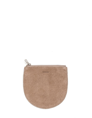 Baggu Small Pouch Dune Suede
