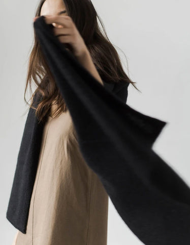 Bare Knitwear Travel Wrap Black