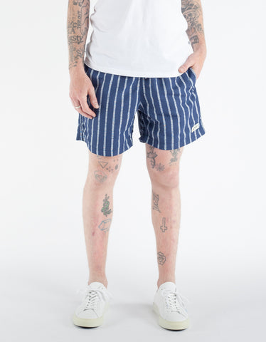 Bather Blue Stripe Swim Trunk Blue White