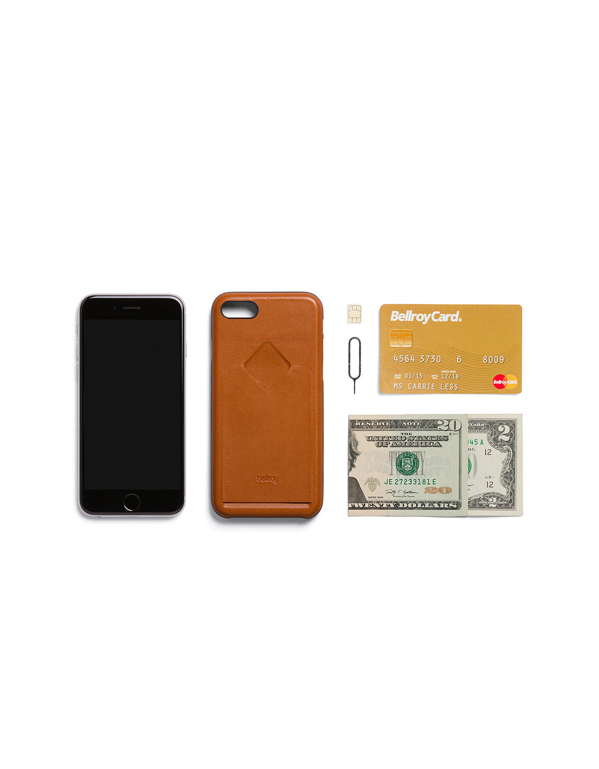 Bellroy Phone Case i7 1 Card Caramel - Still Life - 5