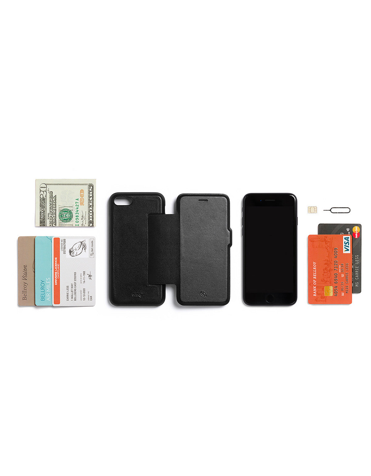 Bellroy Phone Wallet i7 Black - Still Life - 5