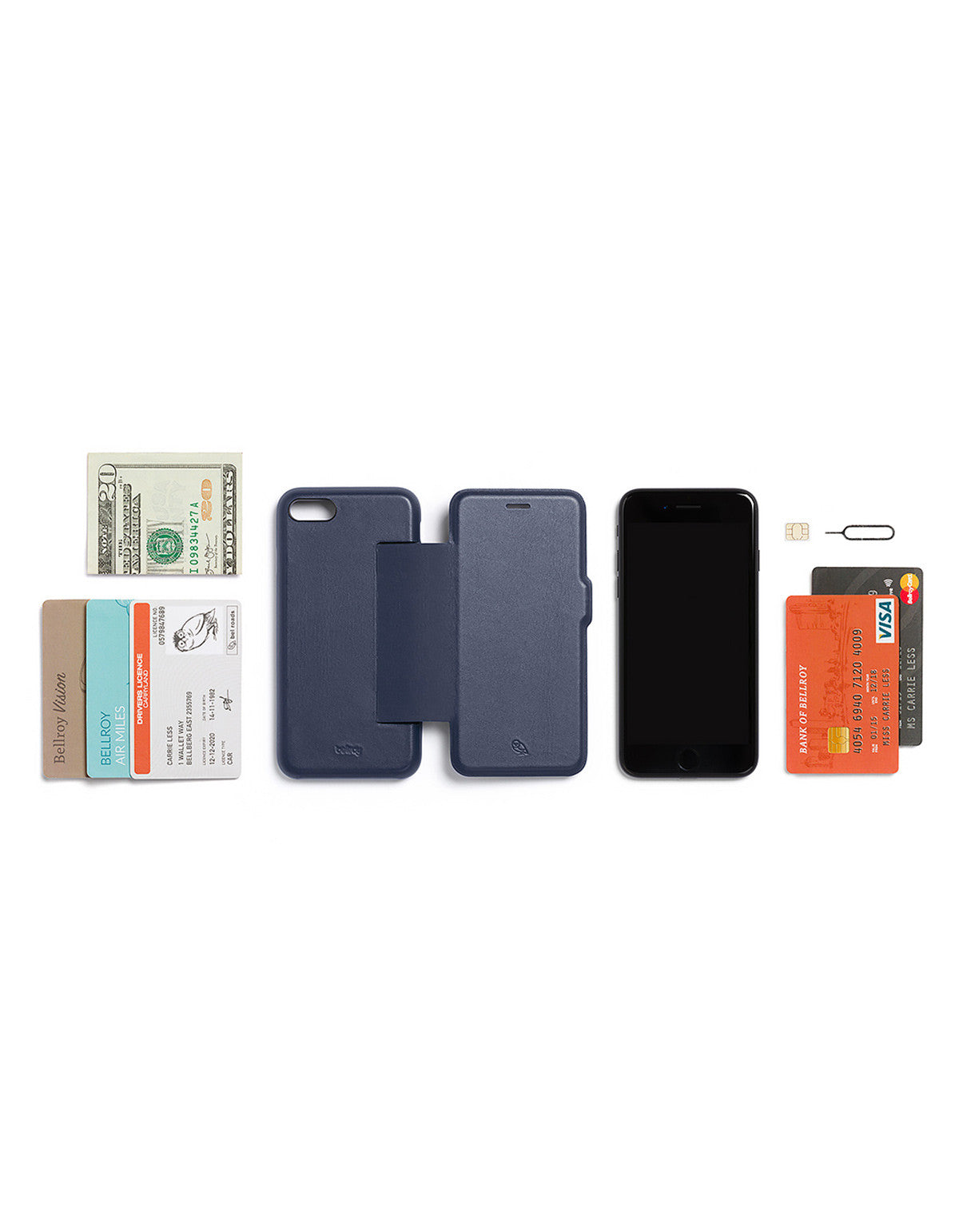 Bellroy Phone Wallet i7 Blue Steel - Still Life - 5