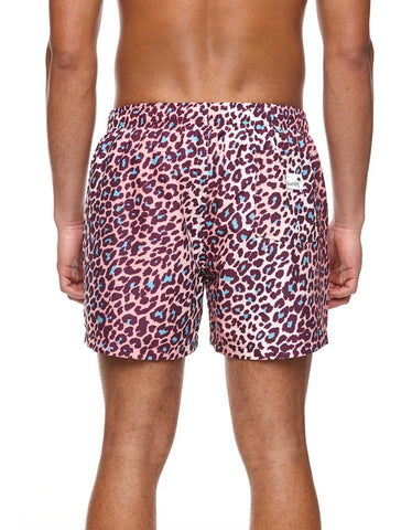 Boardies Mid Length Swim Shorts Leopard