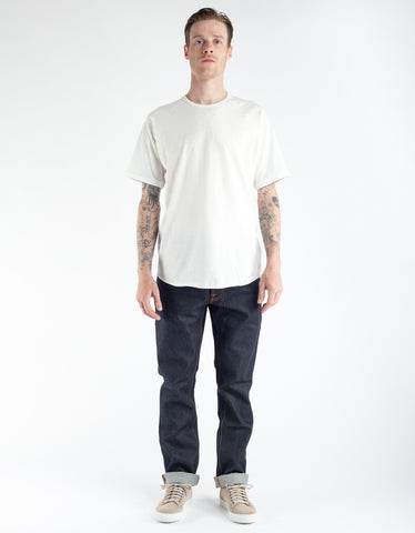 Brixton Basic Short Sleeve Baseball Tee Off White