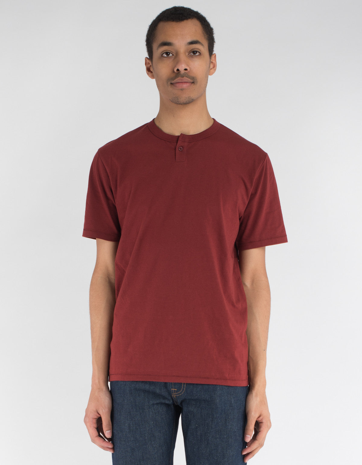 Brixton Basic Short Sleeve Henley Brick