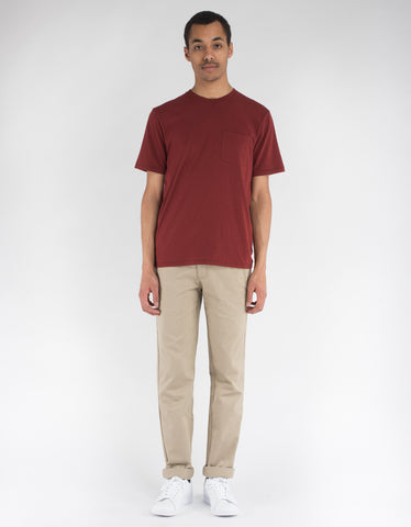 Brixton Basic Short Sleeve Pocket Tee Brick