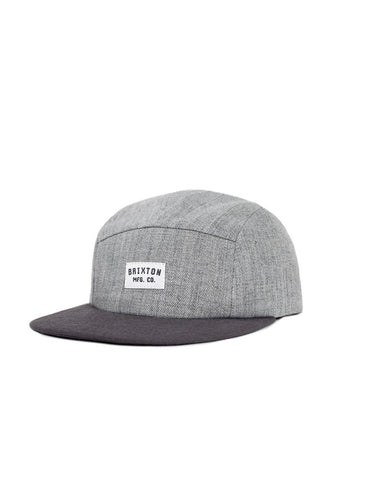 Brixton Hendrick 5 Panel Cap Light Heather Grey - Still Life