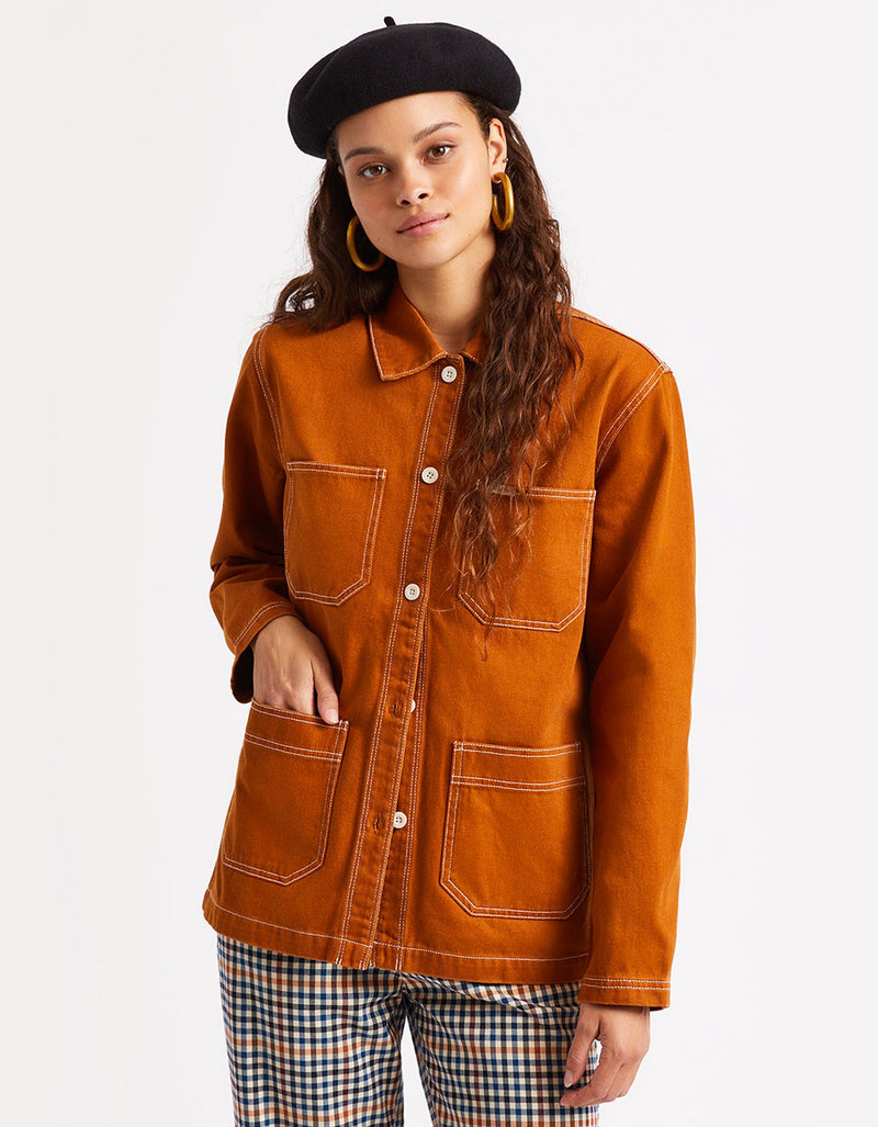 Brixton Philly Chore Coat Amber