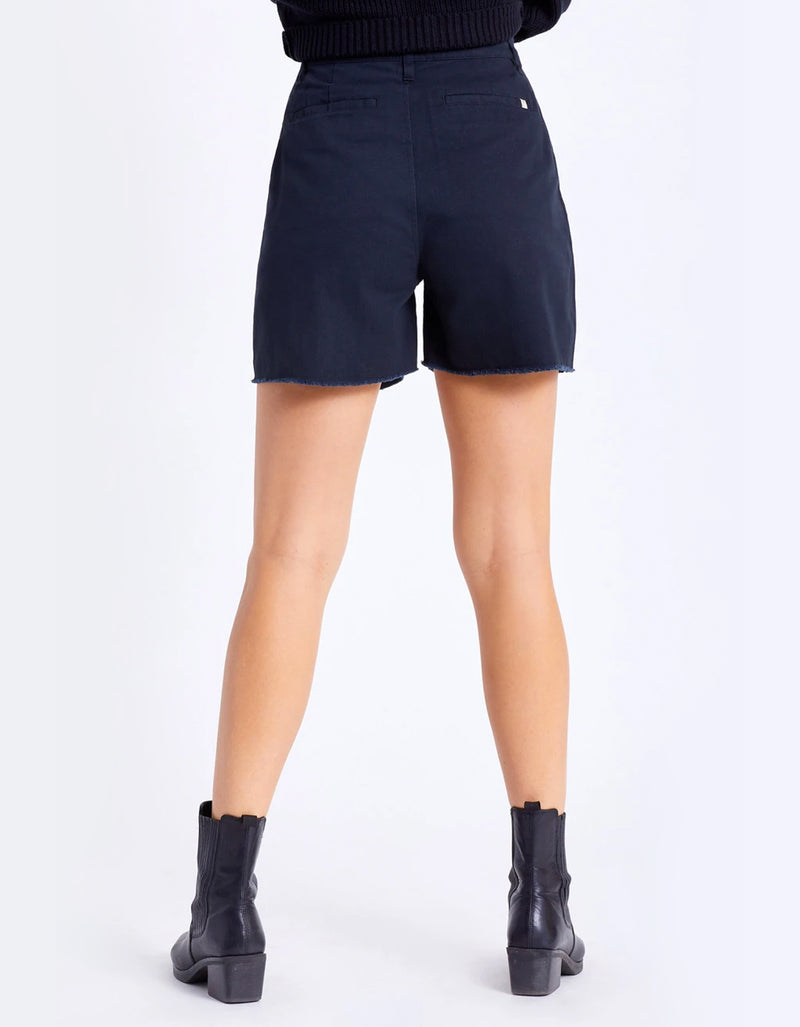 Brixton Victory Trouser Shorts in Black