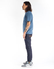 Brixton Basic Short Sleeve Henley Dusty Blue
