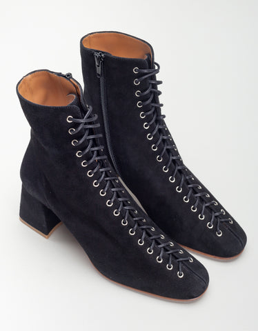 By Far Becca Boot Black Suede