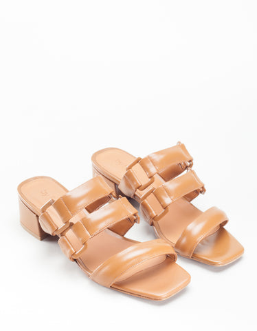 By Far Day Approach Sandal Brown Leather