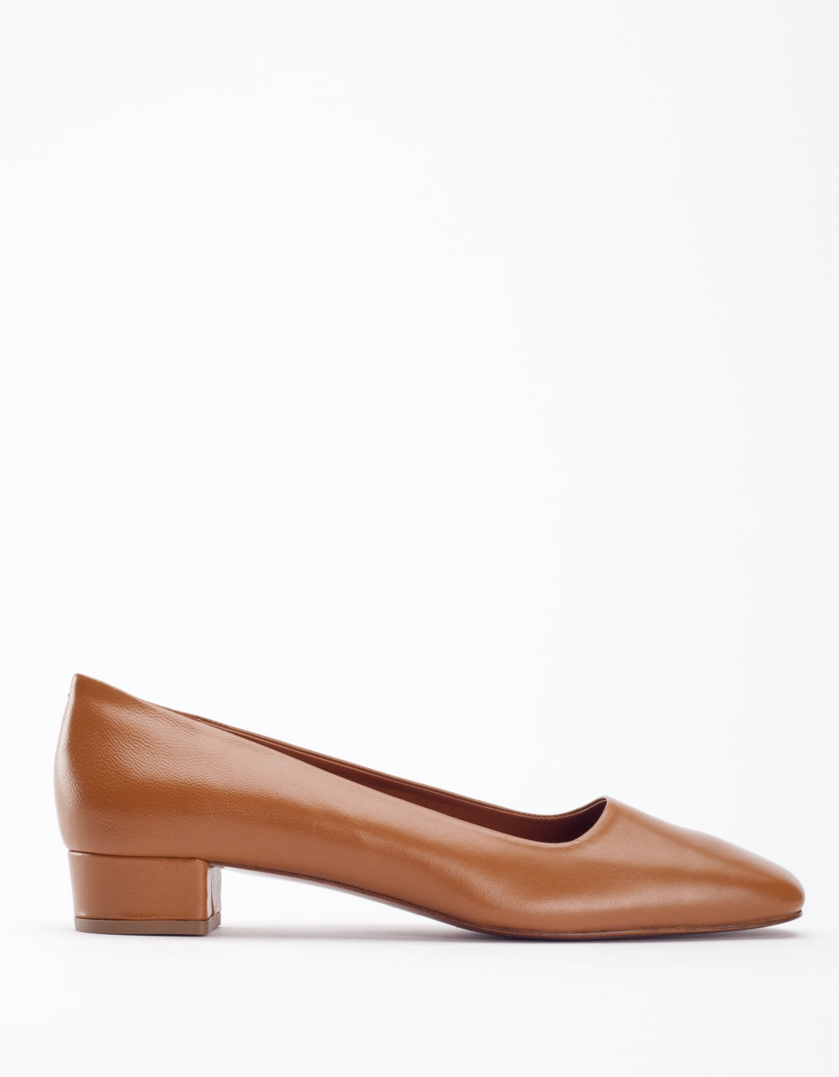 By Far Romy Pump Brown Leather