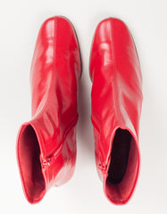 By Far Sofia Boot Red Leather