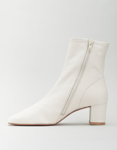 By Far Sofia Boot White Leather