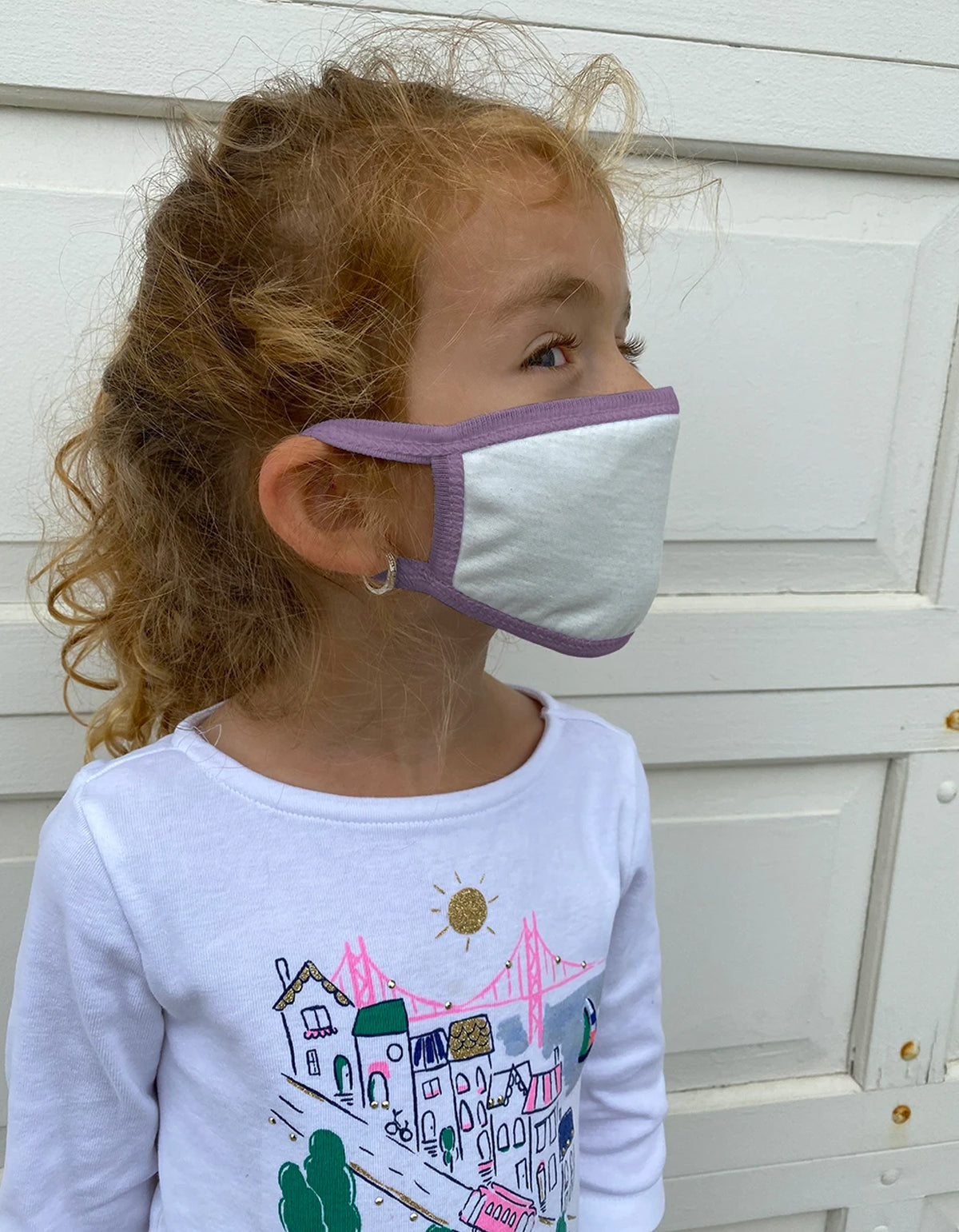 Camp Collection Kids Ear Loop Mask Lavender
